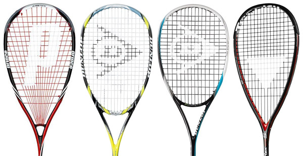 squash racket head sizes, shapes and string patterns
