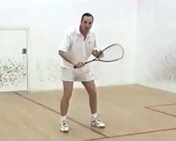correct racket postion at the T